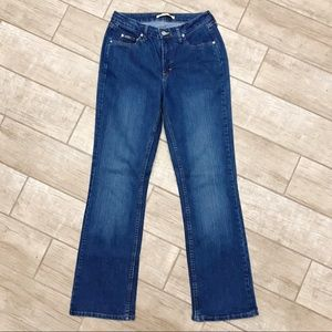 8/32M Instantly Slims You Boot Cut Blue Jeans